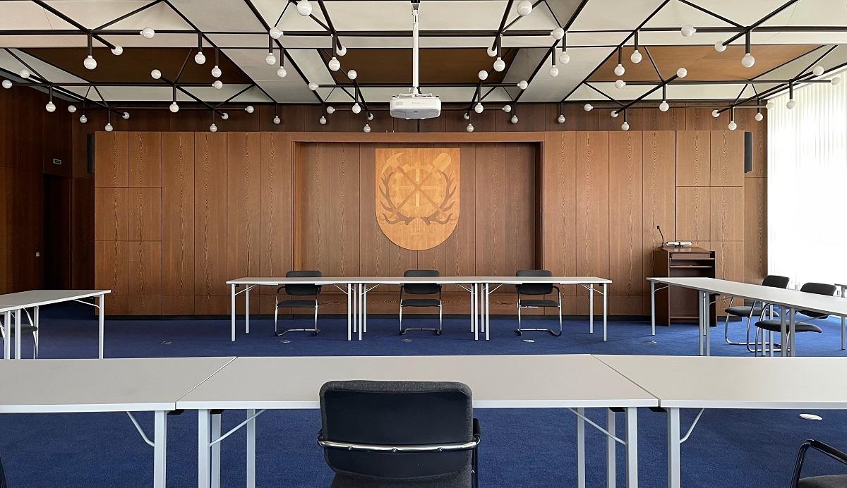 Großer Sitzungssaal im Rathaus